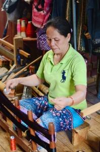 Lady weaving 2
