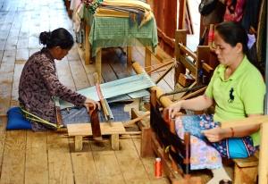 Two Weaving Ladies