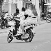 Lady on Motocycle