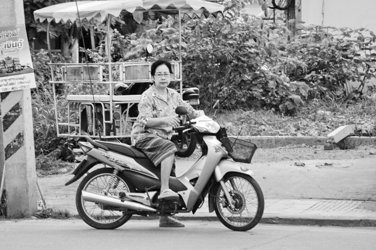 Lady on Motorcycle